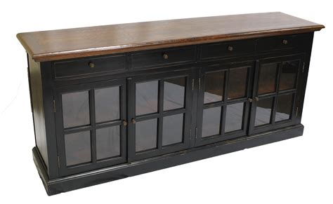 Sideboard With Glass Doors by Black Sideboard 4 Glass Doors Sd 003
