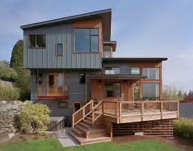 modern remodel of the post war split level house into a split level house plan exterior colors diy home