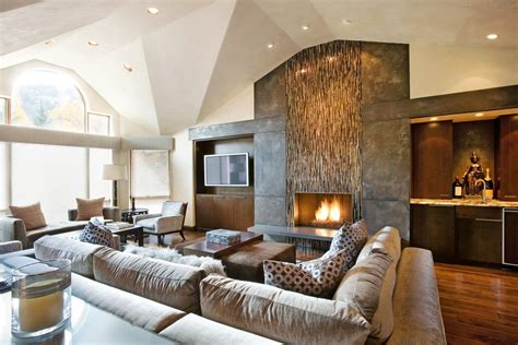the best modern living room brown design u pinteres image for tile fireplace designs living room contemporary with brown