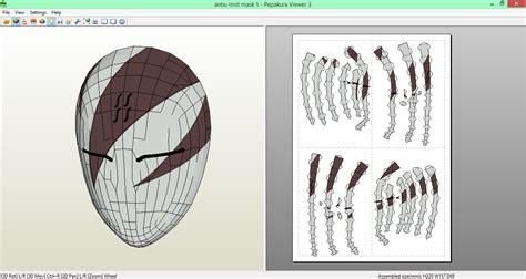 Anbu Mask Papercraft - mist anbu mask papercraft by sibor270898