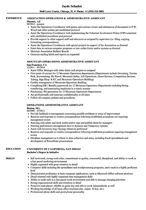 Admin Resume Sle by Resume Format For Admin Lovely Administrative Assistant