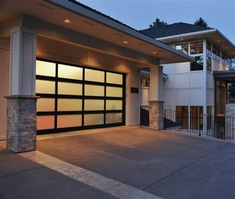 Modern Glass Garage Doors by Modern Glass Garage Door For The Home