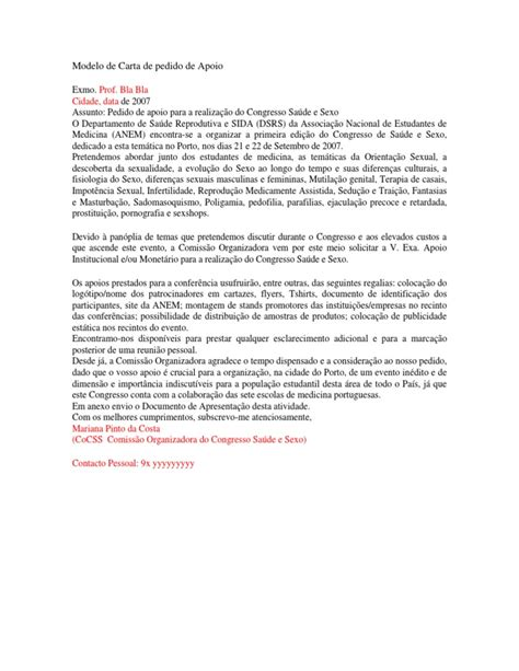 modelo de carta de pedido newhairstylesformen2014 com modelo de carta de pedido de apoio