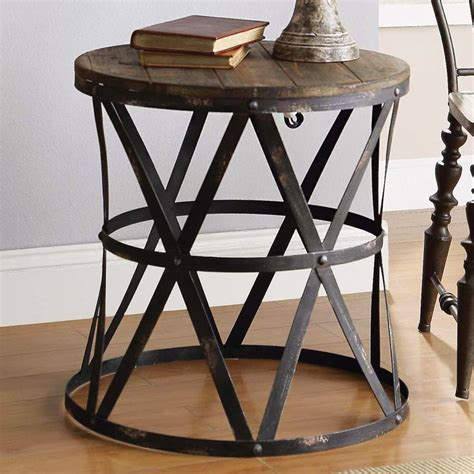 rustic metal and wood end tables 25 best ideas about rustic side table on