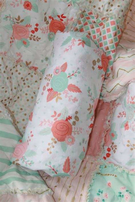 mint and gold bedding 25 b 228 sta pink gold nursery id 233 erna p 229 pinterest