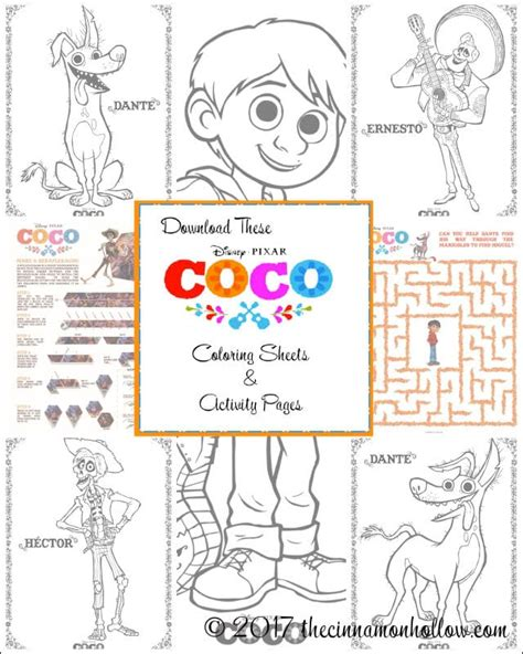 coco coloring book disney pixar coco coloring pages for boys and books print these disney pixar s coco coloring pages