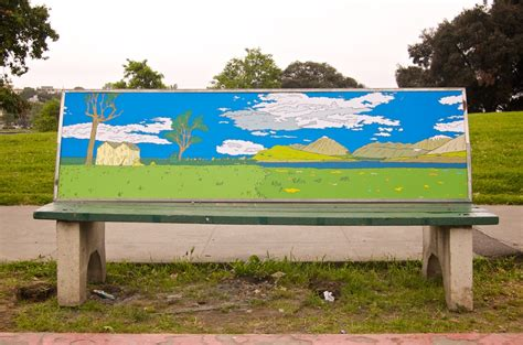 advertising bench anti advertising agency bus stop bench in park