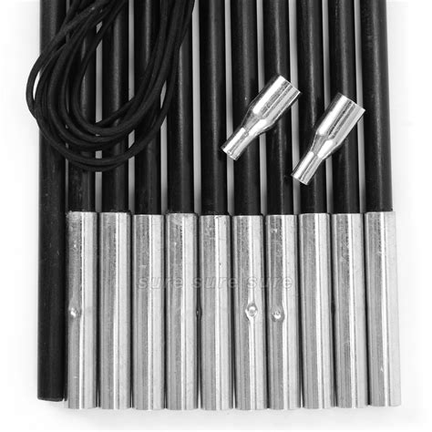 Fiberglass Awning Poles by Replacement Fibreglass Poles Corded Cing Tent Accessories Awning Repair Black Ebay