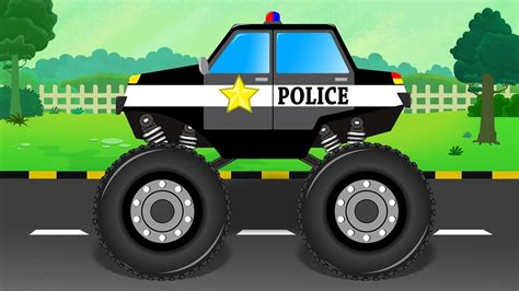 police monster truck formation uses police vehicle