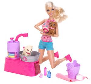 Bathtub Faucet 3 Handle New Collection Barbie Suds And Hugs Pups Playset By Mattel