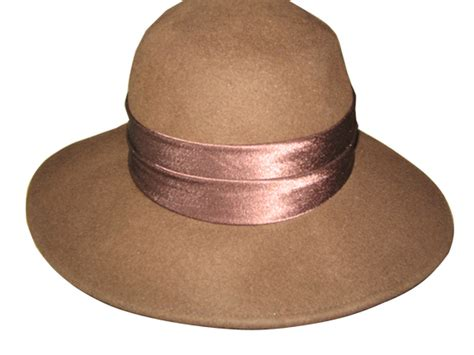 Broad Brim Wool Hat   Brown : That Way Hat. New, Hand Crafted and Custom Millinery   Online