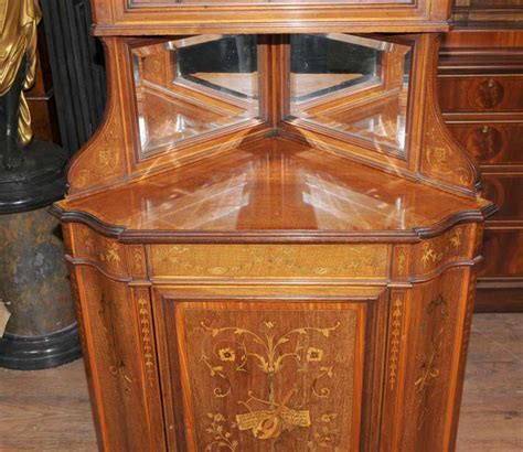 antique corner bookcase edwardian 1910 antique corner cabinet bookcase furniture