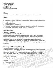 Contract Analyst Cover Letter by Contract Administrator Cv Sle