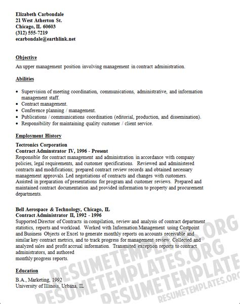 contract administrator resume the best resume contracts manager resume template images frompo