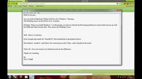 macbook white air pro windows 7 vista slow start up