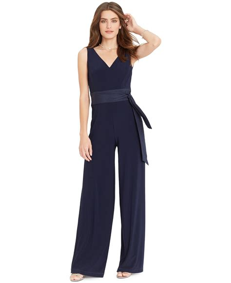 Sleeveless Wide Leg Jumpsuit by ralph sleeveless wide leg jumpsuit in