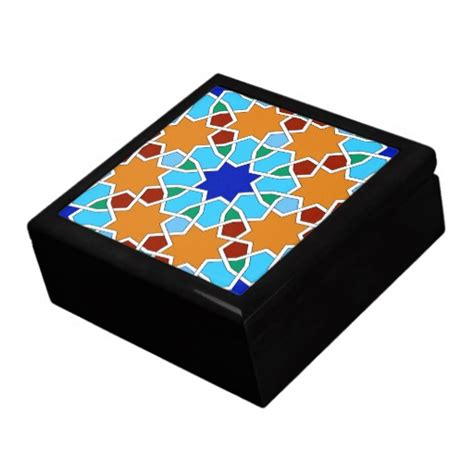 geometric pattern box islamic geometric pattern gift box zazzle