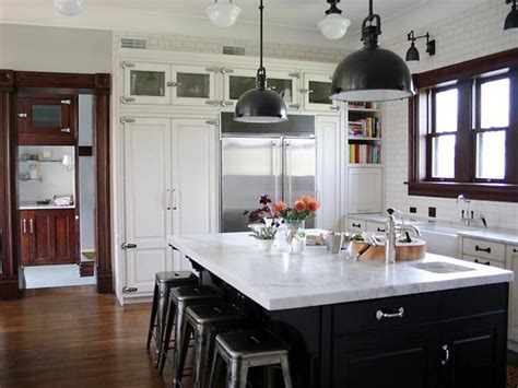 white kitchen black island marble kitchen countertop options hgtv