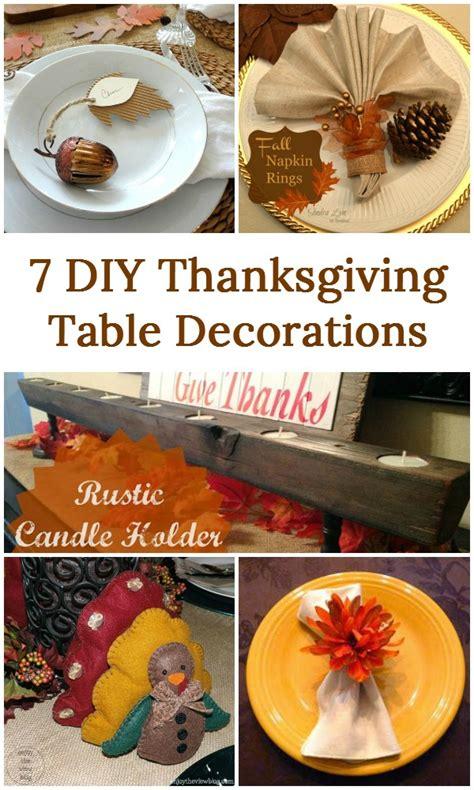 diy thanksgiving decor 7 diy thanksgiving table decorations