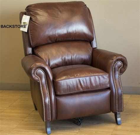 leather reclining chair and barcalounger churchill ii recliner chair leather