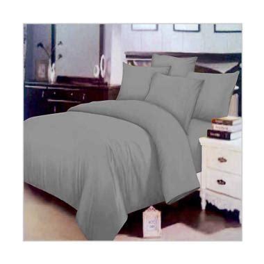 Bedcover Set Polos 200x200x25cm Jaxine Abu Abu jual chelsea microtex polos set sprei dan bed cover abu polos harga kualitas