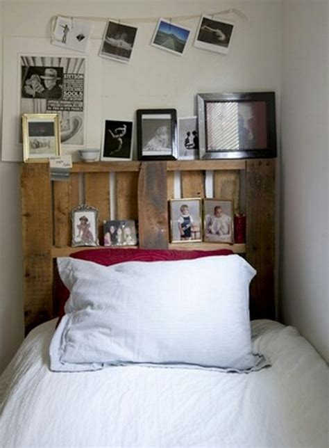 built in headboard ideas pallet headboard with shelves recycled things