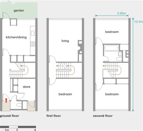 Town House Plans by Alton West Roehampton Houses Modern Architecture London