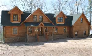 Two Story Log Homes by Log Style House Plans 2576 Square Foot Home 2 Story 2