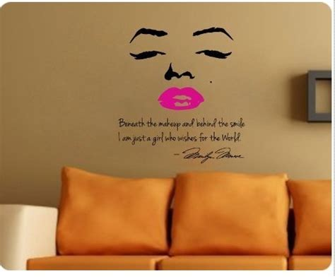 marilyn stickers for walls marilyn wall decal decor quote pink