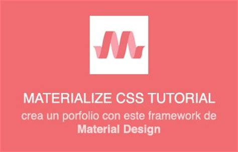 tutorial materialize css framework archivos funny frontend