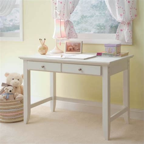 Small White Student Desk Naples Student Desk In White Finish 5530 16