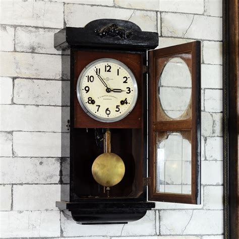 seikosha mini tower  pendulum wall clock antikcart