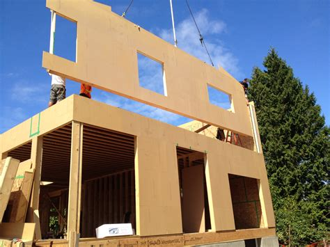 panel homes construction on the 1st passive house for surrey finally
