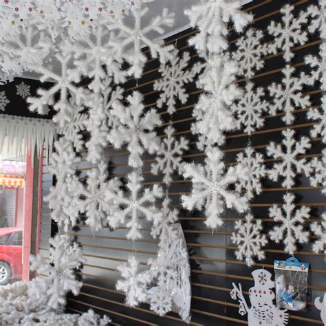 cheap snowflake lights decorations menards wholesale 30pcs snowflake decoration plastic snowflake decor ornaments in