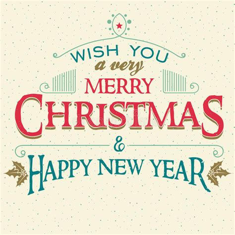 merry christmas   year greeting card stock vector illustration  headline greeting