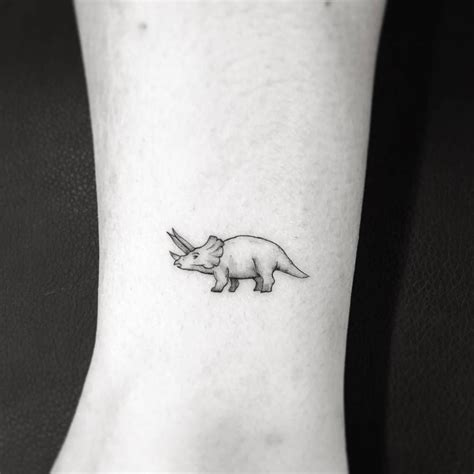 triceratops tattoo triceratops ankle lord this is