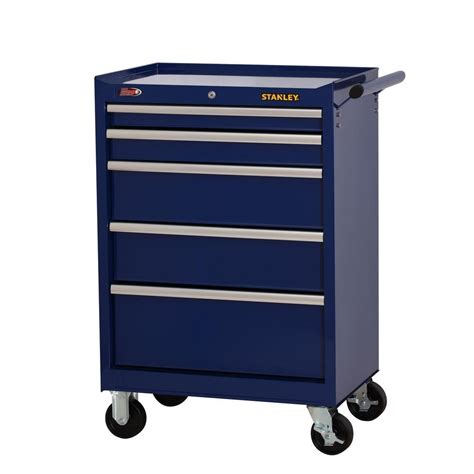 stanley 27 in w 5 drawer tool cabinet blue h5trsbl the