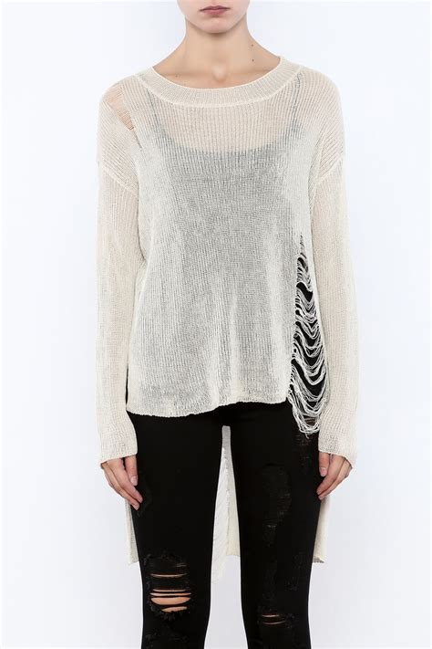 Distressed Sweater hyfve distressed sweater from new york city by angela i am