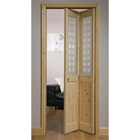 70 Inch Closet Doors Canterbury Geo Knotty Pine 2 Lite Bifold Interior Door Doorsworld Doors Bifold