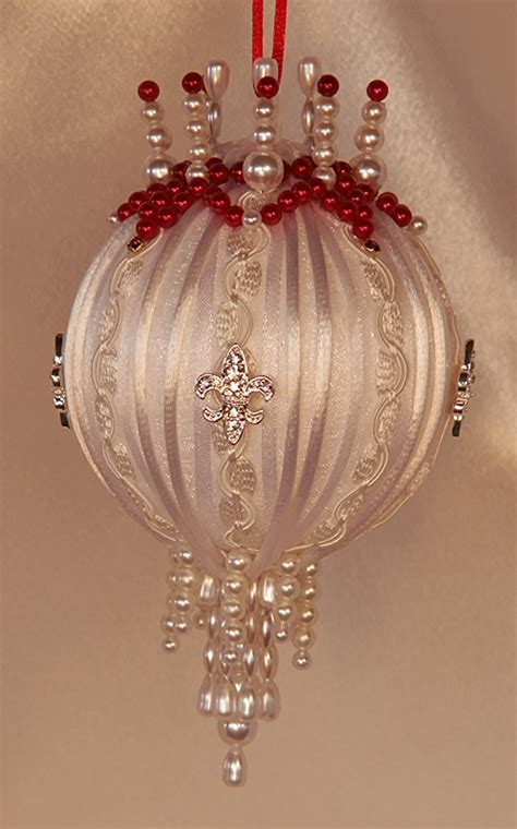 heirloom christmas ornaments victorian mint  ivory