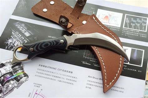 Karambit United Claw Cutter united hibben claw knife karambit 440c 59hrc satin blade micarta handle claw knife knives with