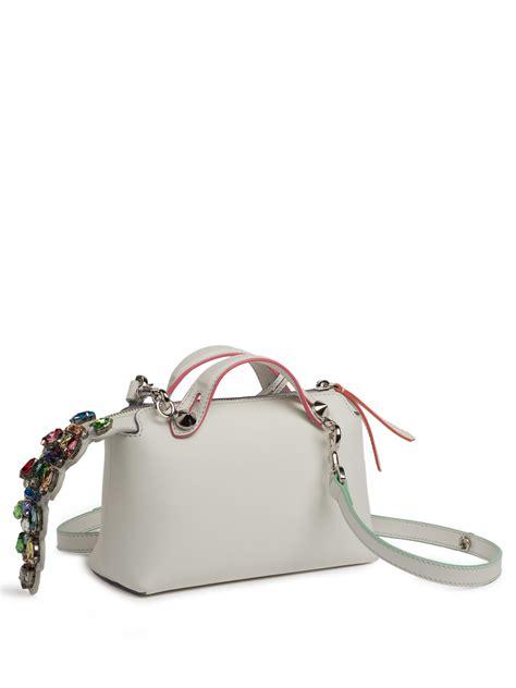 Fendi By The Way Satchel Hardware Silver Like Ori Leather 10121p 5 fendi by the way mini satchel in white lyst