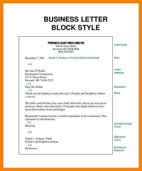 Proper Business Letter Format Block Style 7 Business Letter Block Style Packaging Clerks
