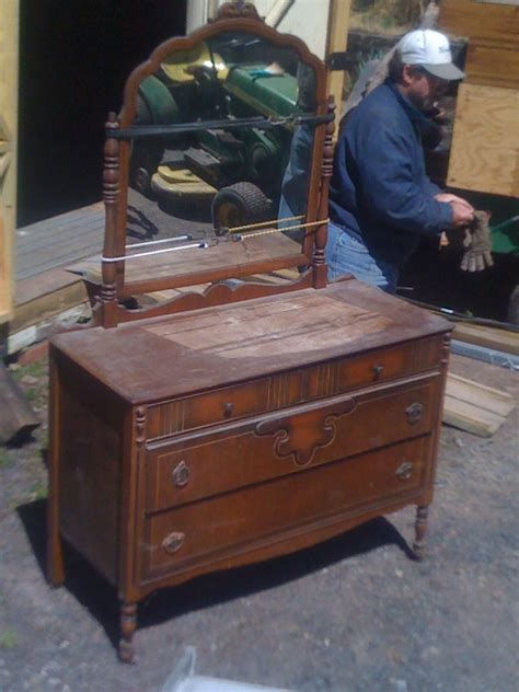 Antique Dresser With Mirror On Wheels by 1940s Dresser With Mirror On Wheels Velma Vintage