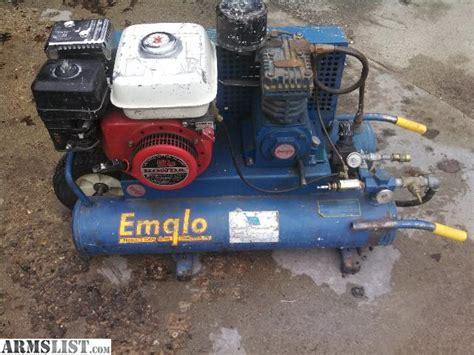 armslist for sale trade emglo air compressor gas 5hp honda