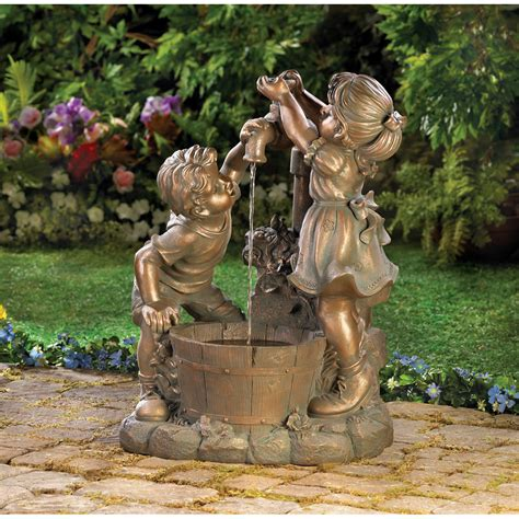 backyard water feature fun and play outdoor water fountain garden fountains and more