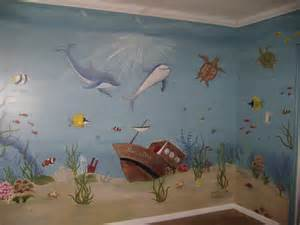 children s mural under the sea in a pediatric dentist s office wall decal quotes wall mural ideas for kids under the sea