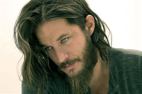 what is going on with travis fimmels hair in vikings hair television tv show beard beards history channel