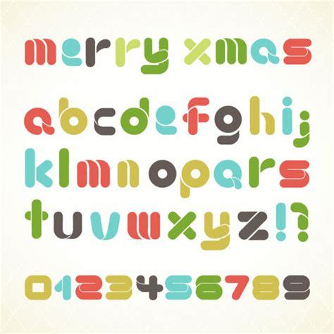 material design font download vector set of creative letters design element material 04