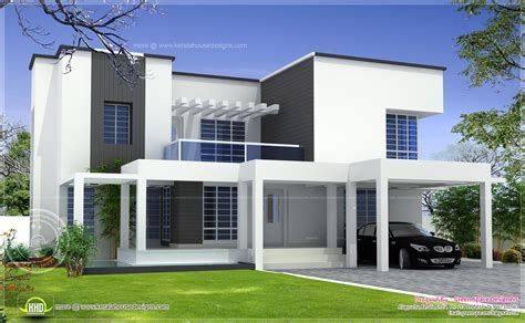 vastu based box type modern home design kerala home
